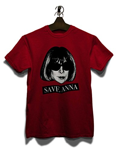 Save Anna Wintour Herren T-Shirt Bordeaux