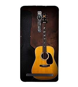 Fuson Designer Back Case Cover for Asus Zenfone 2 ZE551ML (The Guitar theme)