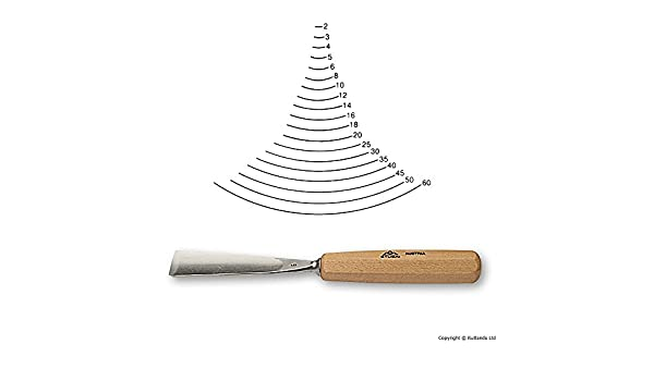 Grey//Beige Stubai 550510 Woodcarv.Chisel,Long Type,pol.Form 5 10 mm
