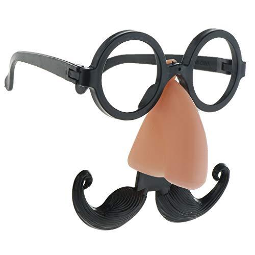 Unbekannt Sharplace Lustige Spaß Brille mit Nase Bart und Augenbrauen Partybrille Foto Requisiten für Karneval Halloween Fasching Party