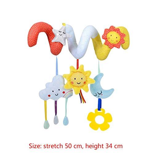 heacker Infant Krippe Spielzeug-Mond-Stern Educational Bequeme hängender Anhänger Verpackung um Kinderwagen Spielzeug Bett Winding Krippe Schienen Spielzeug (Suite Tragetasche)