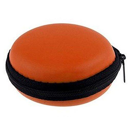 tomaxx Mini-Etui Orange Hülle z.B. für iPod Shuffle oder Etui für Ohrhörer, Headset, Kopfhörer, Bluetooth oder auch für SD-Karte, USB Stick, Battery, Schmuck, Ohrringe