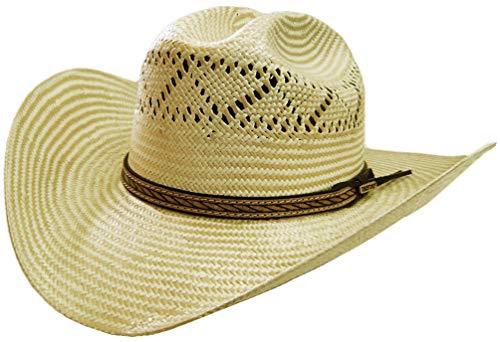 66178fb74 Modestone 2 Tone Ferrol Official Bullrider Bangora Straw Chapeaux Cowboy