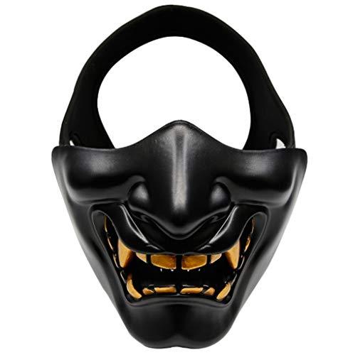 Halloween Smiley COS Maske Horror Teufel Erwachsenen Grimasse halbe Gesichtsmaske TPU Schutzmaske (Farbe : ()