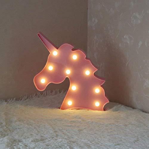 Preisvergleich Produktbild AIZESI Rosa Einhorn Leuchten für Kinder Nachtlichter Schlummerleuchten Außenwandleuchten Küche Haushalt Wohnen Möbel Wohnaccessoires