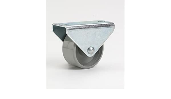 15 x 14 mm, Kunststoff-Rad D/örner 441801 Helmer M/öbel-Bockrolle grau