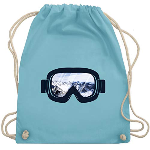 Wintersport - Ski Brille Aussicht - Unisize - Hellblau - WM110 - Turnbeutel & Gym Bag