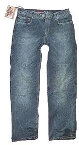 King Kerosin Biker Jeans Speedking Motorradhose mit Kevlar (reiß und abriebfest) Wasser- und Schmutzabweisend, blau oder schwarz