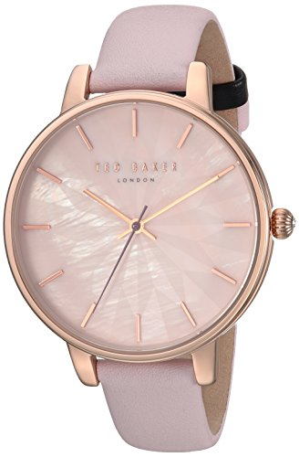 Ted Baker Womans Kate Pink Star Dial Rose Gold Case Pink Leather Strap TE15200001