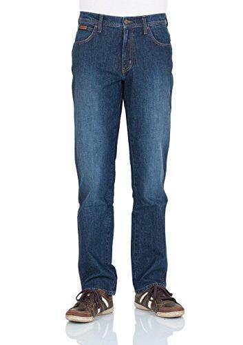 Wrangler Herren Texas Stretch Smouky Jeans Blue Times (W121AR77C)