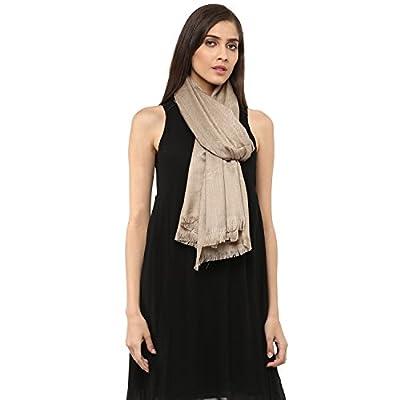 Pashtush Women's Fine Wool Jacquard Shawl, Faux Pashmina, Australian Merino Wool, Soft and Warm
