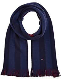 Tommy Hilfiger Reversible Brushed Raschell Scarf, Bufanda para Hombre