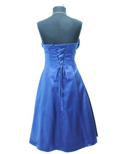 JuJu & Christine Damen Satin Abendkleid Fionora mit Träger vers. Farben Gr. 34 - 42 Blau