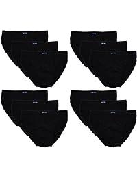12 Herren Sport - Slips in klassischen Farbkombinationen mit & ohne Eingriff 100% Baumwolle 12er Spar Pack Slip Herrenslip Jungen Man M L XL 2XL 3XL 4XL