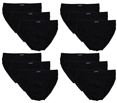 12 Herren Sport - Slips in klassischen Farbkombinationen mit & ohne Eingriff 100% Baumwolle 12er Spar Pack Slip Herrenslip Jungen Man M L XL 2XL 3XL 4XL,SET C,8/2XL