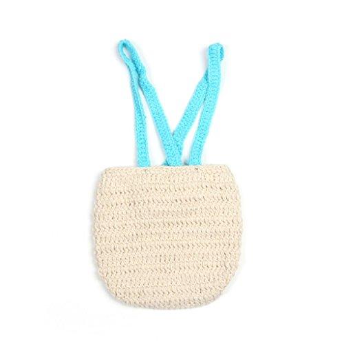 Koly-Beb-de-tres-piezas-apoyo-de-la-fotografa-Costume-Outfits-Corbata-de-moo-Sombrero-tejido