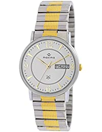 Maxima Formal-Gold Day-Date White Dial Men -26151CMGT