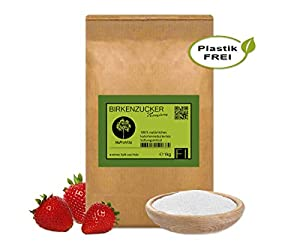 Xylit Birkenzucker Zucker -ersatz aus Finnland │1kg Xylitol im plastikfreien...