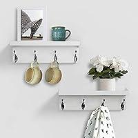 AHDECOR Decorative Floating Wall Shelves Storage Display Shelf Finish Of 2 pcs