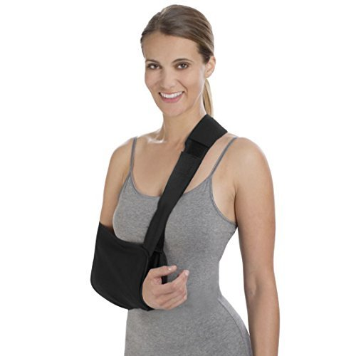 DealMux Universal Adjustable Strap Mesh Shoulder Immobilizer Arm Elbow Belt  Band Black 1d74f4e48b2e