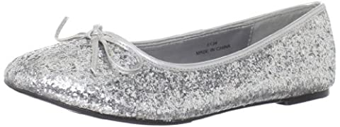 Funtasma Women's Star16GS Flat Glitter Silver Glitter 5 UK