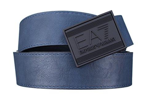 Emporio Armani EA7 ceinture homme raccourcie réversible train core noir