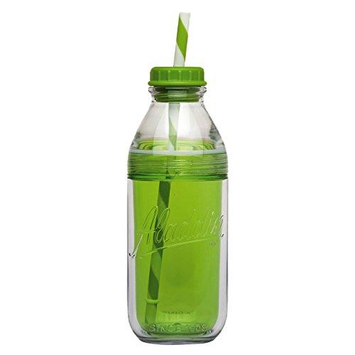 Aladdin 33020 Doppelwandiger Tumbler 0,47 L in Milchflaschenform in grün