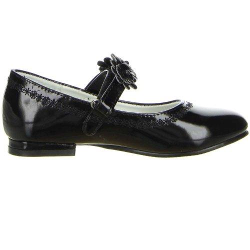 ConWay Mädchen Ballerina Lackoptik schwarz Schwarz