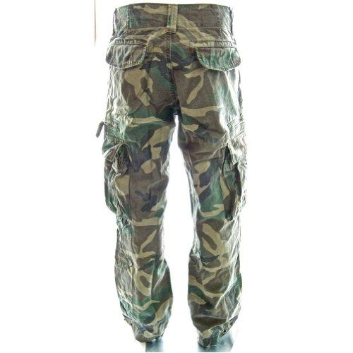 Sizeups Cargohose für Herren 52008 - 100% Baumwolle, Premium Qualität Armee-Kampf-Hosen Euro Waldlancamo