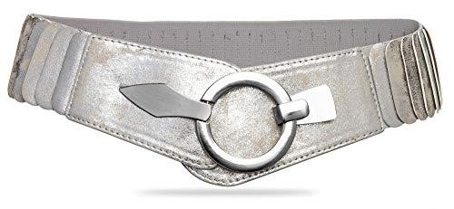CASPAR GU301 Damen Glitzer Strassgürtel Hüftgürtel Taillengürtel schmal elegant