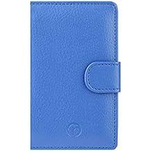 Cuellirrojo Prima tipo Cartera para Microsoft Lumia 435 - azul