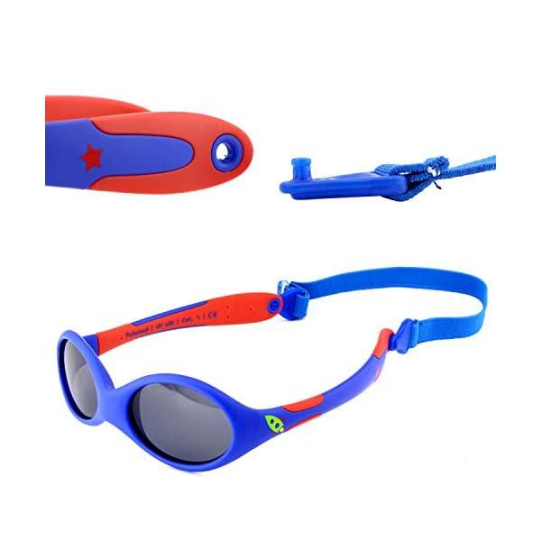 ActiveSol gafas de sol para BEBÉ | NIÑO | 100% protección UV 400 | polarizadas | irrompibles, de goma flexible | 0-24… 4