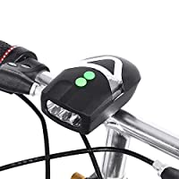 STRAUSS Unisex Adult ST-1348 Bicycle Led Headlight With Horn - Black, One Size