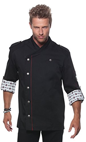 ROCK CHEF Herrenkochjacke schwarz Größe 48