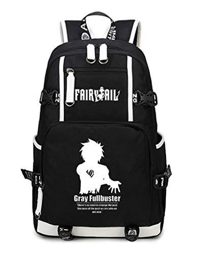 Wendy Von Kostüm Wendy's - Cosstars Fairy Tail Anime Backpack Schüler Schultasche Laptop Rucksäcke Freizeittasche Daypack Schwarz-12
