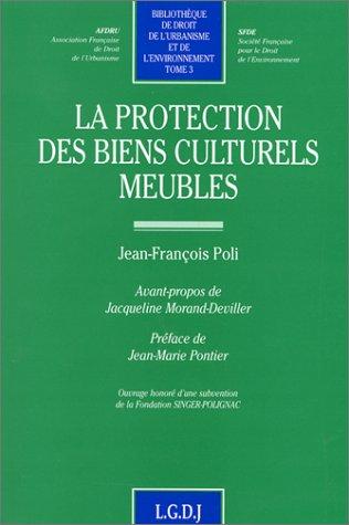 La protection des biens culturels meubles
