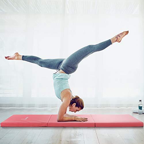 WolfWise 180x60cm Weichbodenmatte, Klappbare Gymnastikmatte Turnmatten für Zuhause, Rutschfeste Sportmatte Geschenke für Kinder & Erwachsenen