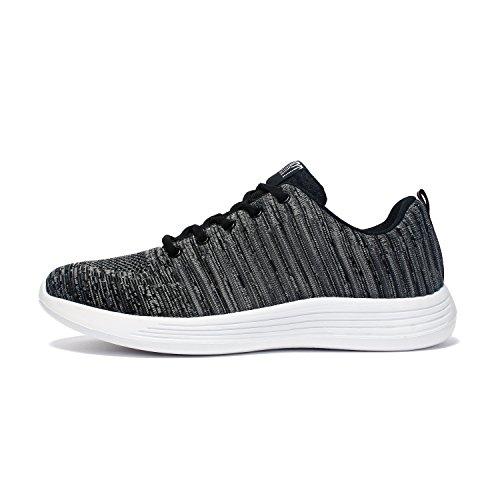 Foto de Voovix Hombre Zapatos para Correr Aire Libre y Deporte Shoes Sneakers Transpirables(Gris,EU42)