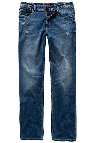 JP 1880 Herren große Größen | Superstretch-Jeans | Gerade 5-Pocket-Form | Bund mit Gürtelschlaufen | Straight Fit | bis Größe 66 | darkblue 26 708370 93-26