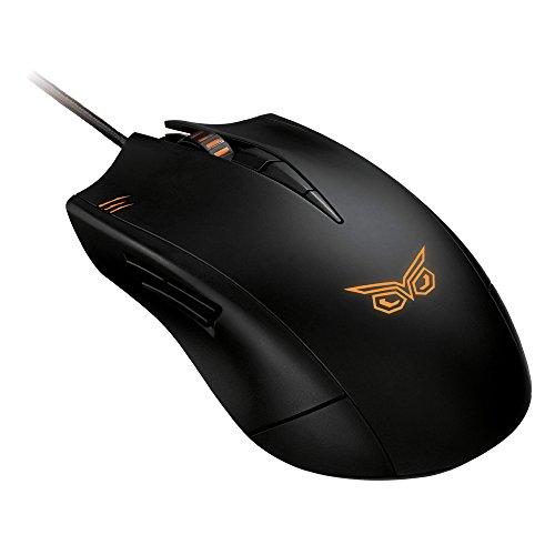 Asus Strix Claw Dark Mouse per Gaming, Nero/Antracite