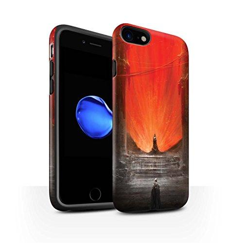 Offiziell Chris Cold Hülle / Matte Harten Stoßfest Case für Apple iPhone 7 / Rot Herzog Muster / Dunkle Kunst Dämon Kollektion Hohe Königin