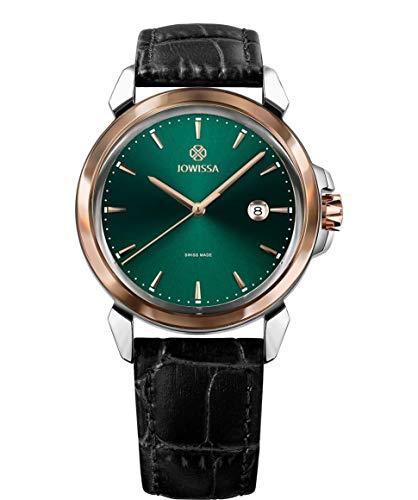 Jowissa LeWy 3 Swiss J4.241.L - Reloj para Hombre, Color Verde, Negro y Plateado