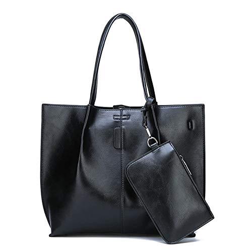 Lässige Tragetaschen Set, Carry-On Handtasche Sets Fashion Umhängetasche Für Mädchen,Black,36 * 11 * 27cm