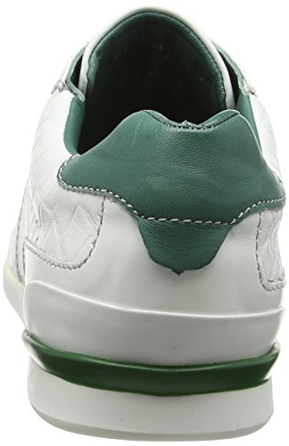 bugatti 311137031011 Herren Low-Top Weiß (white green 2070)
