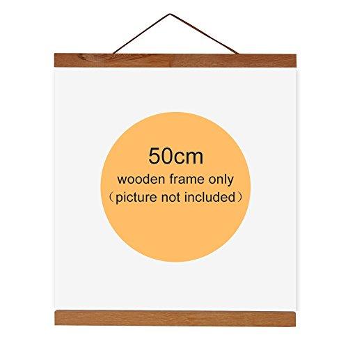 Magnetic Wooden Photo Frame Natural Wood Frame Picture Poster Artwork Canvas Hanger For Home Decoration Wall Teak Wood ( Size : 50cm )