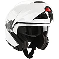 Scotland Casco Modular de Moto Modelo Force 02, Blanco Brillante, 59-60 (L)