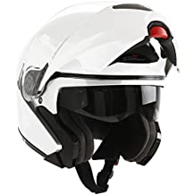 Scotland Casco Modular de Moto Modelo Force 02, Blanco Brillante, 57-58 (