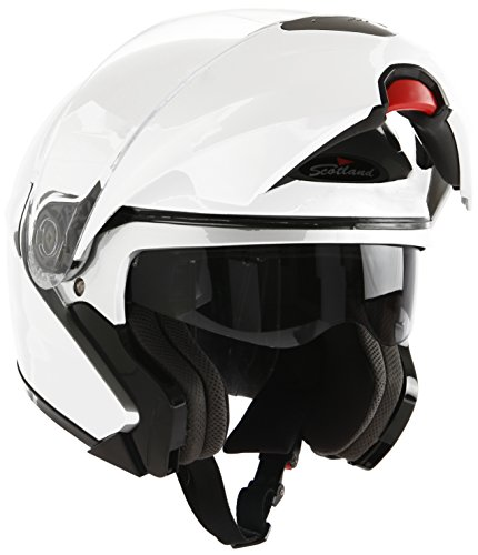 Scotland Casco Modular de Moto Modelo Force 02, Blanco Brillante, 61-62 (XL)