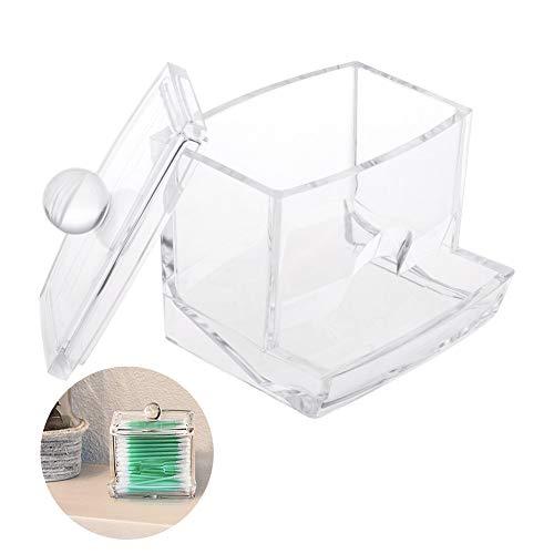 Beito 1PC Acryl Make-up Organizer Box Cotton Swabs Holder Clear Qtip Cotton Swab Dispenser Bathroom Clear Jar Veranstalter For Cotton Balls, Cotton Swabs, Q-Tipps Cotton Ball Holder