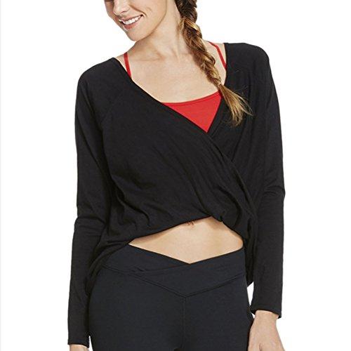 Zhhyizhi Hot Women Yoga Top Fitness Fashion Long sleeves T-shirt mozione Shirt